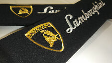 Black Seat Belt Shoulder Pads for LAMBORGHINI