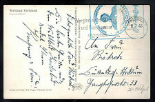 1943 Karlsbad Germany Sanatorium Waffen SS Feldpost Postcard Cover Imperial Hote