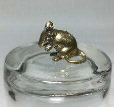 Miniature Figurine Brass Rat Mouse Animal Metalwork Art #22