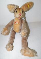 "VINTAGE STEIFF STUFFED ANIMAL RABBIT BUNNY LULAC 17"" EUC"