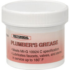 NEW tub Plumbers plumbing Grease 57g lubricates taps/valves up to 82 deg C