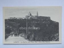 LORETO la Basilica dalla Stazione Ancona vecchia cartolina