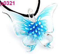 1pc Lifelike Butterfly art lampwork glass pendant p0321