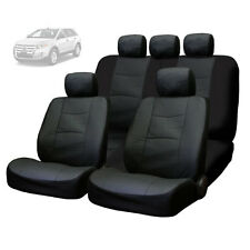 FOR FORD NEW PREMIUM BREATHABLE BLACK SYNTHETIC LEATHER CAR SEAT COVERS SET