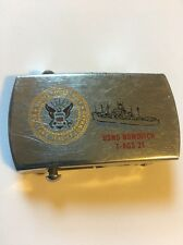 USNS Bowditch T-AGS 21 Zippo Belt Buckle Military Sealift Command
