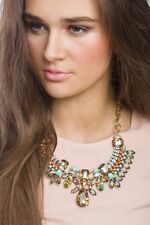 Statement Necklace Tribal Inspired Gem Necklace Pendant Fashion Style Jewelry