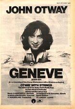 JOHN OTWAY Geneve & tOUR DATES 1978 UK Poster size Press ADVERT 16x12 inches