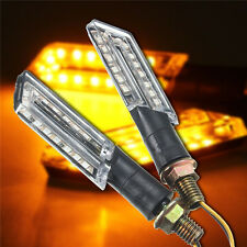 2pcs LED MOTO SEÑAL DE VUELTA INTERMITENTES LUZ INDICADOR AMBER BLADE LIGHT 12V