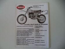 advertising Pubblicità 1977 MOTO VILLA 250