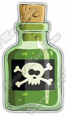 "Bottle Poison Venom Skull Crossbones Gift Car Bumper Vinyl Sticker Decal 3.5""X5"""