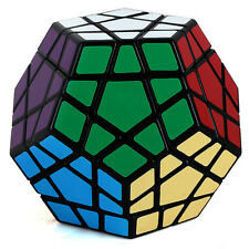 Shengshou Megaminx Magic Cube 12 Color Toy Layers High Speed Twist Puzzle Black