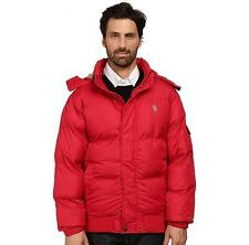NEW U.S. Polo Assn. Men's Short Snorkel Winter Coat In Red Chili Pepper XL