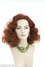 Reminiscent of Rita Hayworth Feminine Retro Style Medium Brunette Red Wavy Wigs