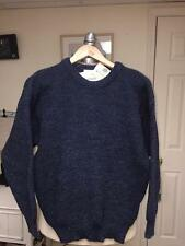 BARBOUR D632 BLUE MARL KNIT CREW SWEATER SZ C38/97CM 100% WOOL MADE SCOTLAND NWT