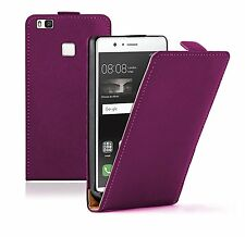 SLIM PURPLE Leather Flip Case Cover Pouch For Mobile Phone Huawei P9 Lite