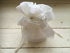Ivory Satin Flower Diamanté Children's Small Bag Flower Girl Bridesmaid Wedding