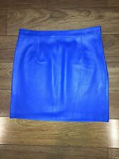 SUSANA MONACO Blue Leather Mini Skirt Size 4