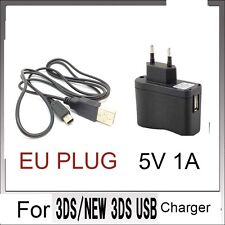 New EU POWER AC CHARGER CABLE  for Nintendo DSi NDSi DSiXL 3DS 3DSXL/LL 3DS tt