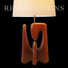 ISAMU NOGUCHI MODERN BIOMORPHIC SCULPTURAL WALNUT TABLE LAMP HERMAN MILLER 1950