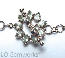 BLUE TOPAZ 925 Sterling Silver 27mm Stone Toggle Clasp /BF