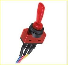 Red Illuminated Toggle Switch SPST 12VDC 20A