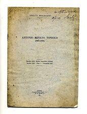 Emilio Malesani#ANTONIO RENATO TONIOLO (1881/1955) # Estratto #Coppini & C. 1955