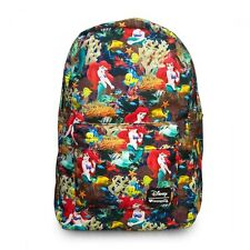 Disney Ariel Backpack Little Mermaid All Over Print Loungefly 2016 NEW RELEASE