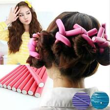 Fashion 10pcs hair curler makers soft foam hair rollers bendy twistee tool  G4