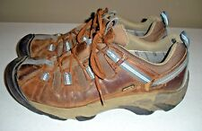 Men's KEEN Detroit Brown Leather Work Hiking Shoes Size: 11.5