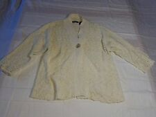 Vintage Wind River White Women's Knit Sweater Size Medium