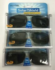 6 SOLAR SHIELD Clip-on Polarized Sunglasses Size 54 Rec 1 Black Full Frame NEW