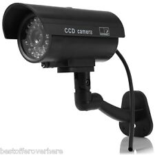 Dummy Camera CCTV Sticker Surveillance 90°  with Flashing Red LED Light