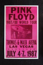 Pink Floyd 1987 Poster Las Vegas Thomas & Mack Arena