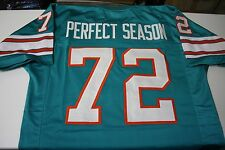 "1972 MIAMI DOLPHINS #72 ""THE PERFECT SEASON"" CUSTOM HOME JERSEY SIZE XLG 17-0"