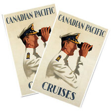 "Two Canadian Pacific Cruises Captain w Binoculars 11x17"" Reproduction Posters"