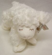 "Baby Gund SOFT WHITE WINKY THE LAMB RATTLE 8"" Plush Stuffed Animal NEW"