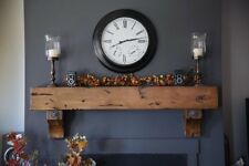 Wood Mantel Knotty Alder Rustic Distressed Beam Timber Antique Washers & Bolts