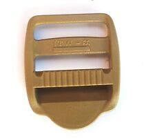 "Nexus Ladderlock Buckle 25mm (1"") Set of Four Coyote Tan Plastic Webbing LL25"