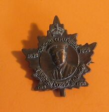 1834-1934 Toronto Centennial Canadian Corps Reunion Antique Lapel Pin Royalty