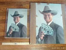 Vintage 1980 Dallas J.R.Ewing Jigsaw Puzzle with Box and Frame Warren Paper Prod