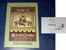 MOUSE GUARD FCBD 2013 1 HC original art sketch DAVID PETERSEN hardcover 1 COA