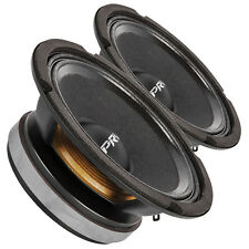 "Pair PRV Audio 6MB200 6.5"" Midbass Woofer Speaker 8 ohms 200W 93 dB 1.5"" Coil"