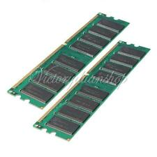 NEW 2GB 2X1GB PC3200 DDR 400 400Mhz 184-pin Non-ECC Desktop PC DIMM Memory Ram