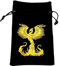SomethingDifferent Phoenix Rising Luxury Velvet Drawstring Tarot/Oracle Card Bag