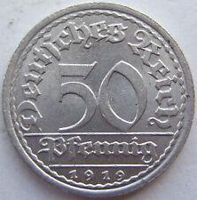 TOP! 50 REICHSPFENNIG 1919 A in BANKFRISCH / STEMPELGLANZ !!!