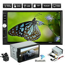 "7"" Double 2DIN Bluetooth Touch Screen Stereo Radio HD Car MP5 MP3 Player Camera"