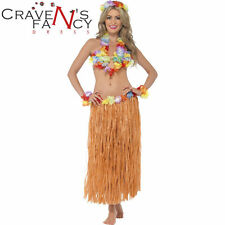 Hawaiian Costume Instant Kit Hula Honey Fancy Dress 5 pc Grass Skirt Bra Lei New