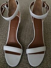 GIVENCHY Women's Retra White Leather Sandal Size IT40.5/US 10.5 NEW!