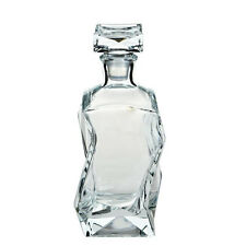 Contemporary Clear Glass Whisky Decanter  0,75L