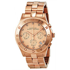 Marc Jacobs Blade Chronograph Rose Gold-Tone Stainless Steel Ladies Watch
